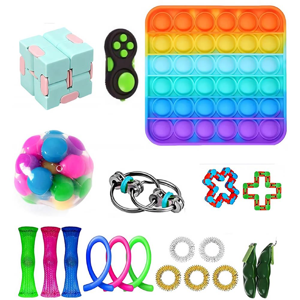 other-learning-office-supplies 20/28 pcs Fidget Bubble Toys Sensory Set DIY Decompression Artifact for Adults Girl Children Expression Emotion Stress Relief Antistress Toys HOB1838254 1 1