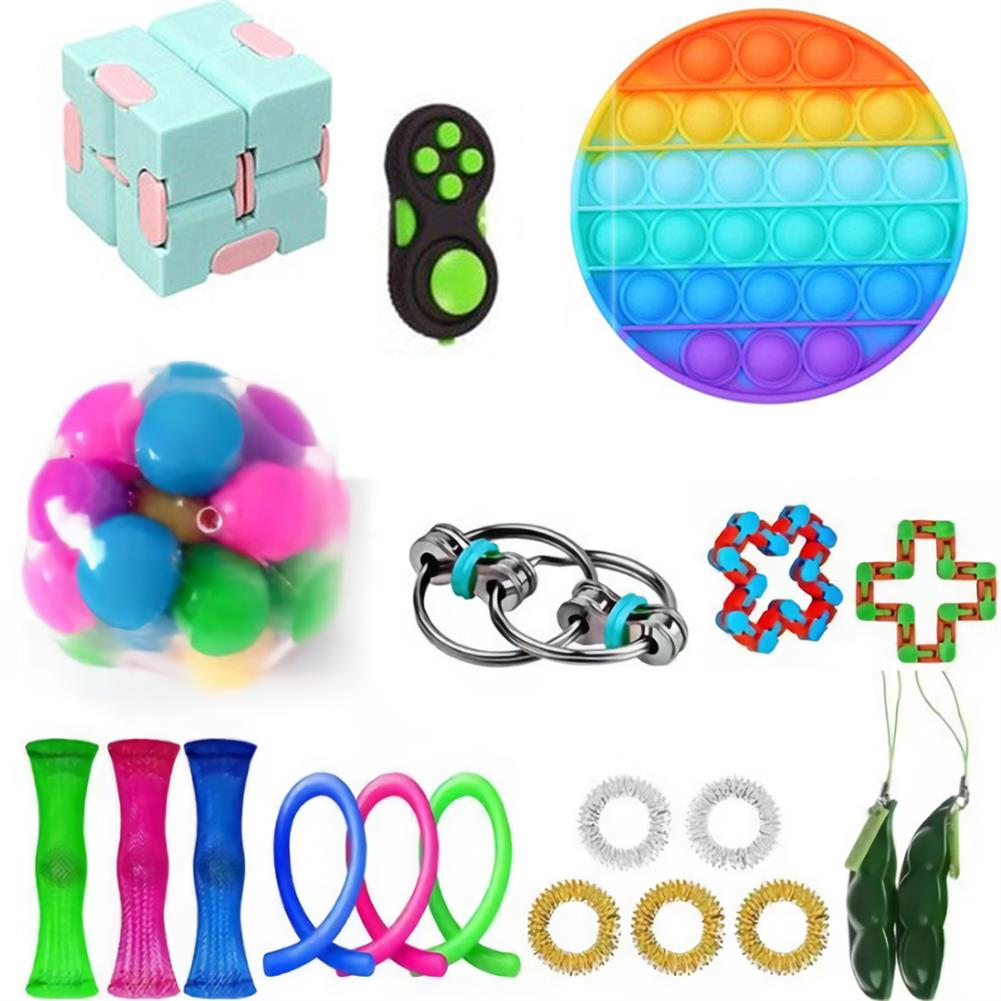 other-learning-office-supplies 20/28 pcs Fidget Bubble Toys Sensory Set DIY Decompression Artifact for Adults Girl Children Expression Emotion Stress Relief Antistress Toys HOB1838254 2 1
