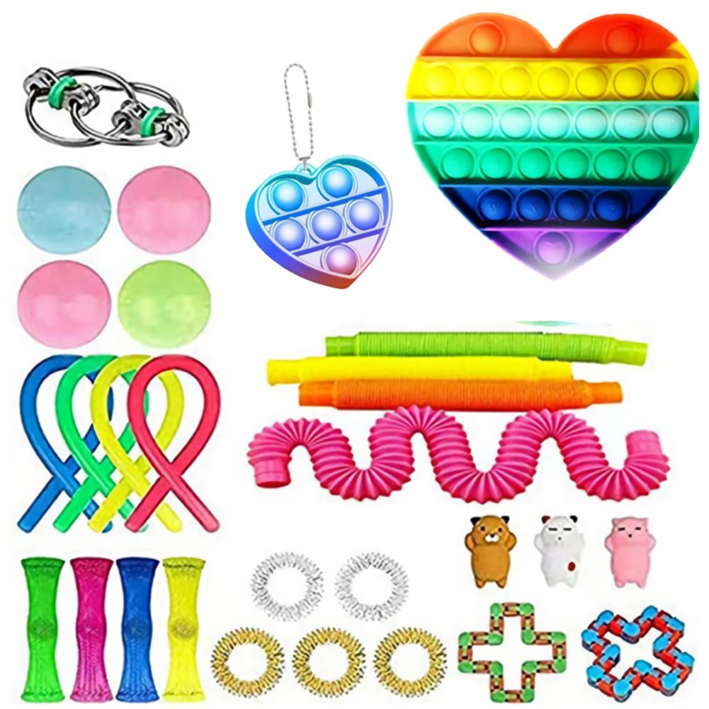 other-learning-office-supplies 20/28 pcs Fidget Bubble Toys Sensory Set DIY Decompression Artifact for Adults Girl Children Expression Emotion Stress Relief Antistress Toys HOB1838254 3 1