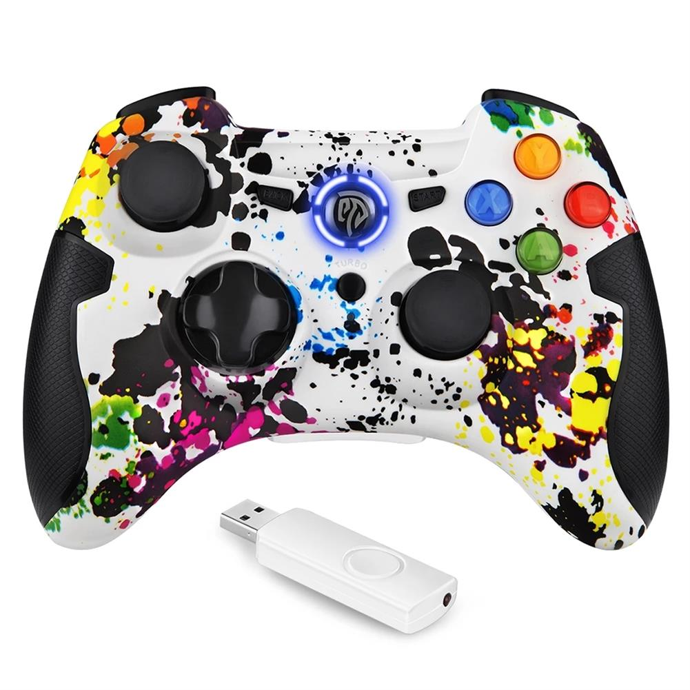 pc-gaming-controllers EasySMX ESM-9013 Wireless Gamepad Joystick Dual Vibration TURBO Controller for PS3 Android Phone TV Box Window PC HOB1839073 1