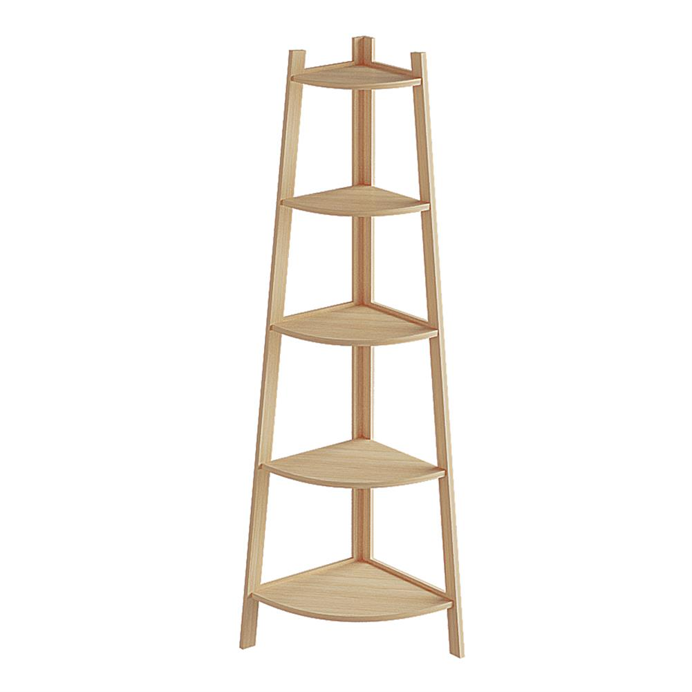 book-stands Stylish Corner Ladder Shelving Unit 5 Tier Wall Leaning Bookcase Storage Display Book Accessories Storage Stand HOB1840067 1 1