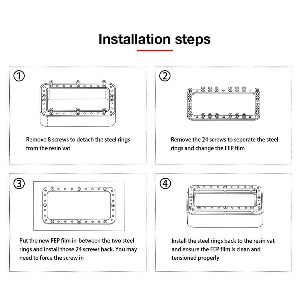 3d-printer-accessories 140x200mm Light Curing DLP Release Film Smooth Surface FEP Film for Photon DLP SLA Resin UV Resin 3D Printer HOB1840260 3 1