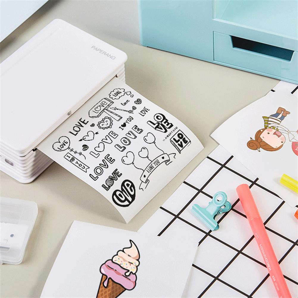 printers [Global Version] Paperang C1 Mini Printer Phone Portable thermal Pocket Photo Receipt Memo Note Label Sticker Printer inkless Clearly Printing Home office Supplies HOB1840484 3 1