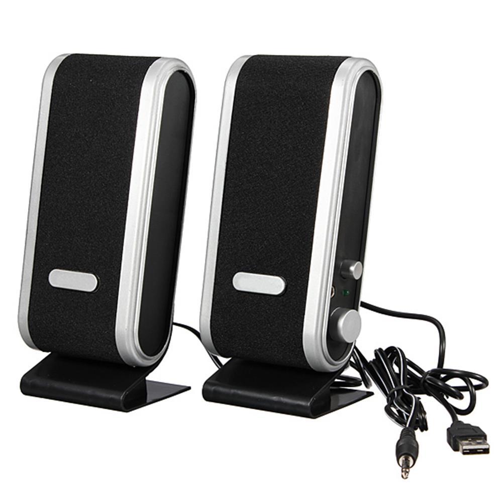 computer-speakers Mini 3.5mm USB Jack USB Audio Power Speaker for PC Notebook HOB80912 2 1